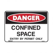 838643 Danger Sign - Confined Space Entry By Permit Only