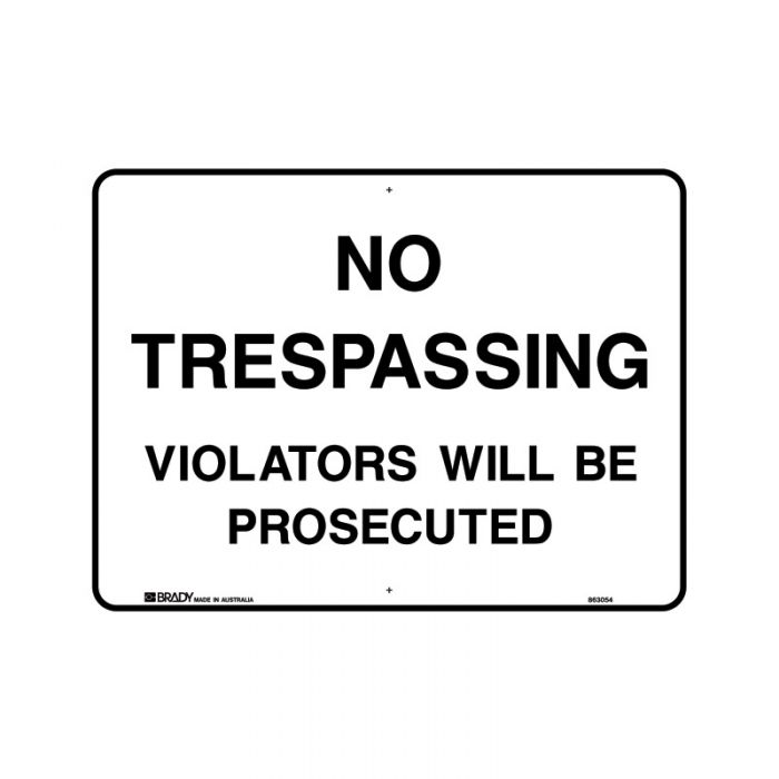 830210 Property Sign - No Trespassing Violators Will Be Prosecuted