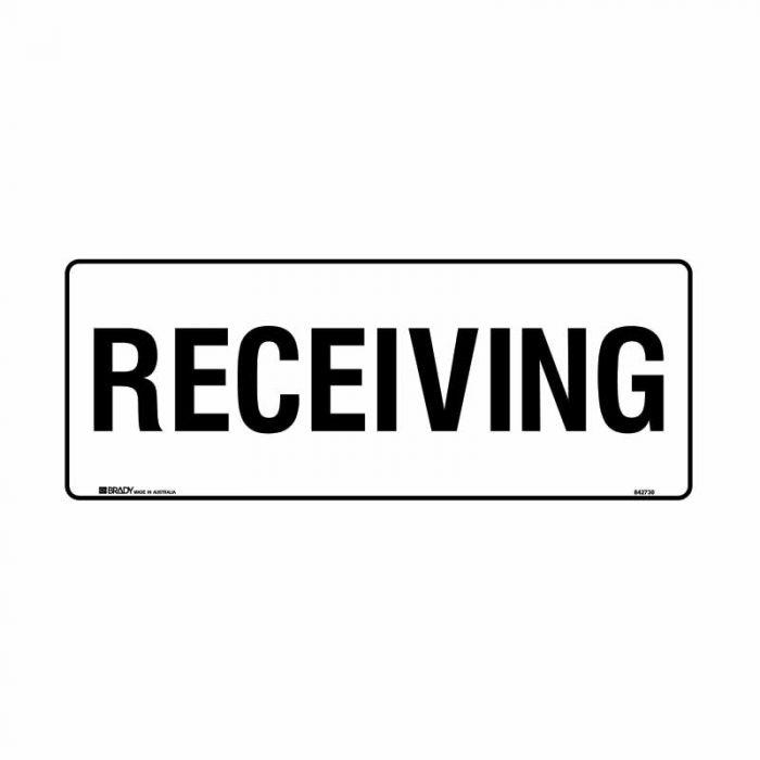 832181 Building & Construction Sign - Receiving