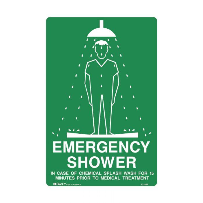 832189 Emergency Information Sign - Emergency Shower..
