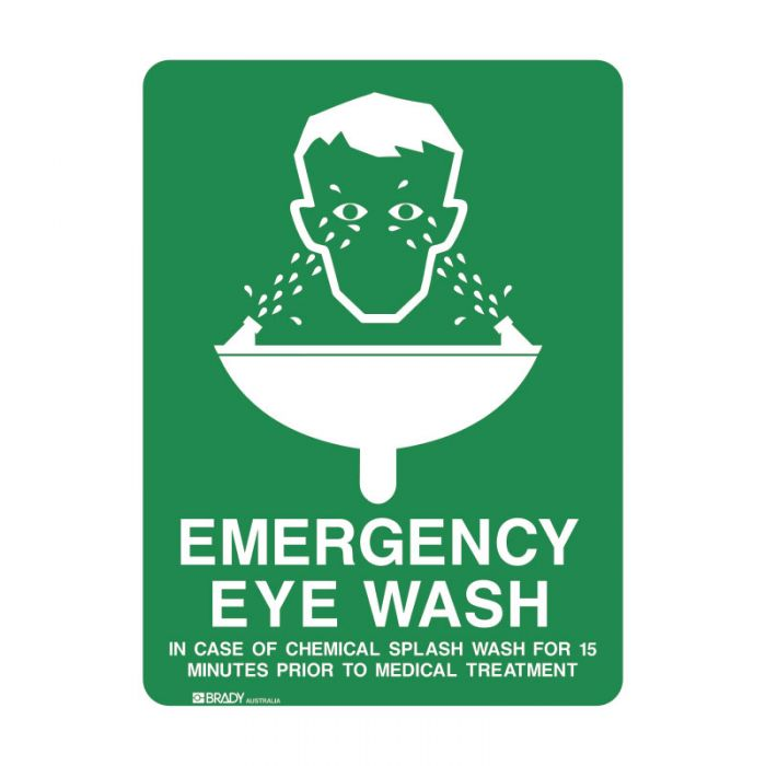 832190 Emergency Information Sign - Emergency Eye Wash..