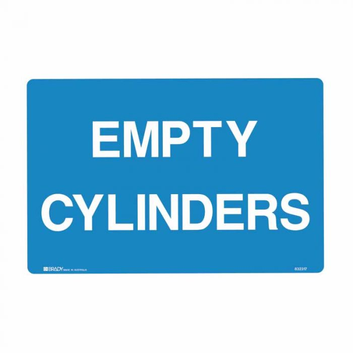 832317 Building & Construction Sign - Empty Cylinders
