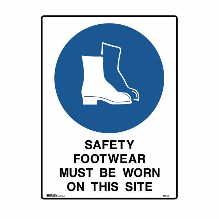 832435 Building & Construction Sign - Safety Footwear Must Be Worn On This Site