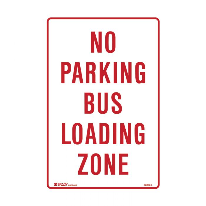 832524 Parking & No Parking Sign - No Parking Bus Loading Zone