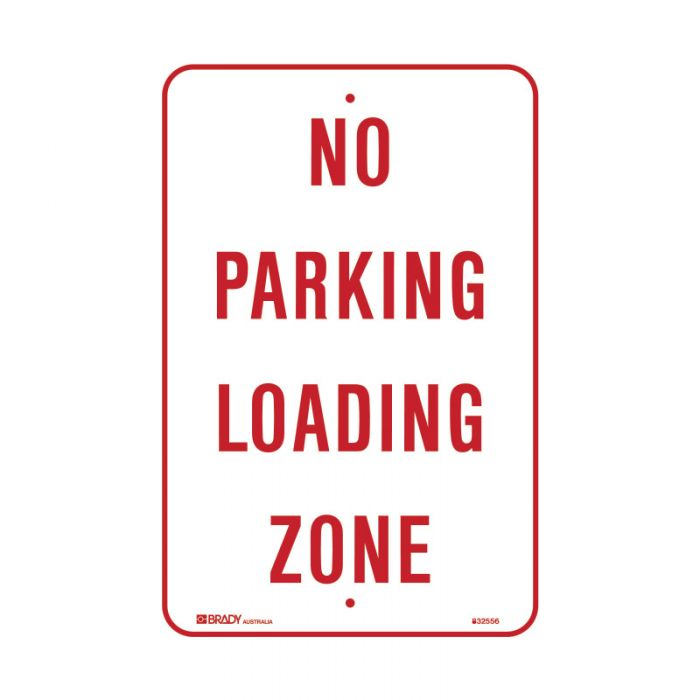 832557 Parking & No Parking Sign - No Parking Loading Zone