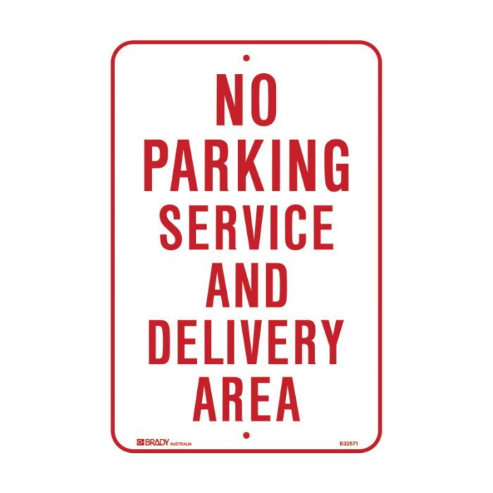 832571 Parking & No Parking Sign - No Parking Service And Delivery Area
