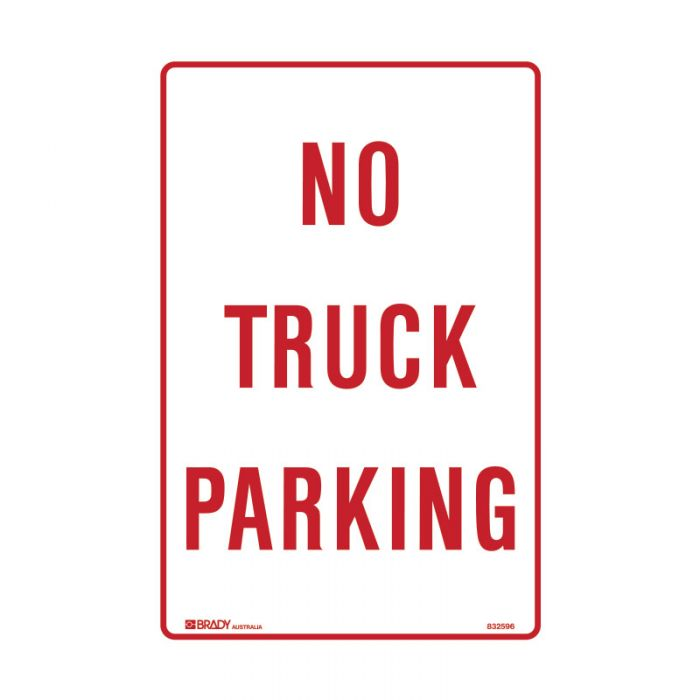 832595 Parking & No Parking Sign - No Truck Parking