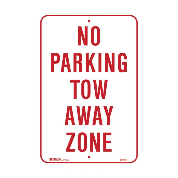 832613 Parking & No Parking Sign - No Parking Tow Away Zone