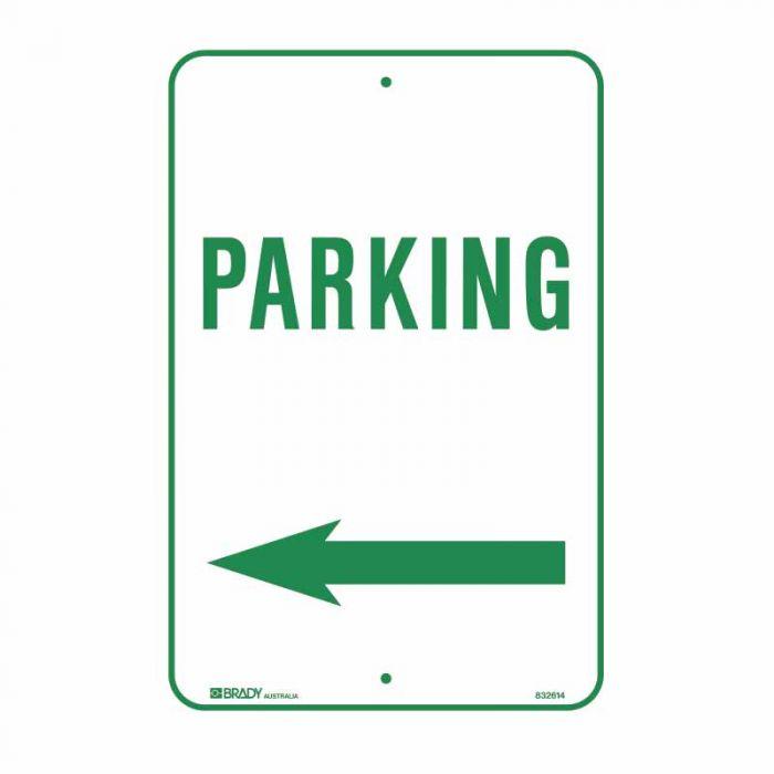 832614 Parking & No Parking Sign - Parking Arrow Left