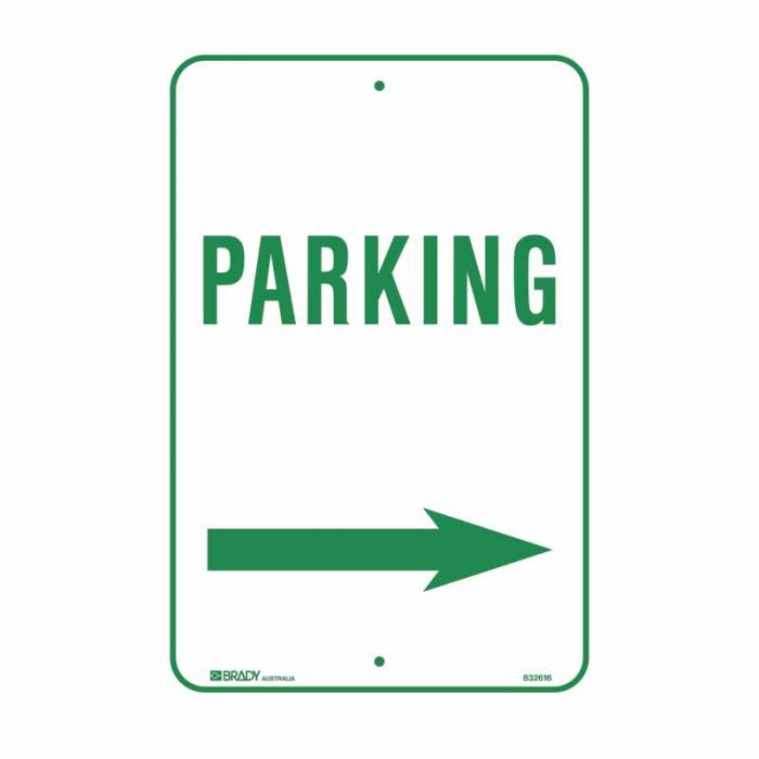 832617 Parking & No Parking Sign - Parking Arrow Right