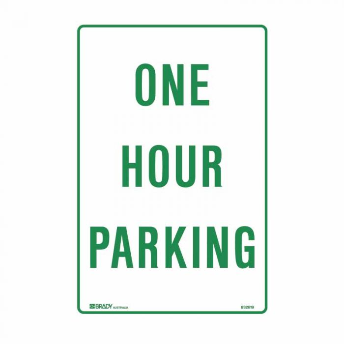 832619 Parking & No Parking Sign - One Hour Parking