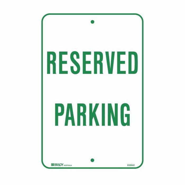 832643 Parking & No Parking Sign - Reserved Parking