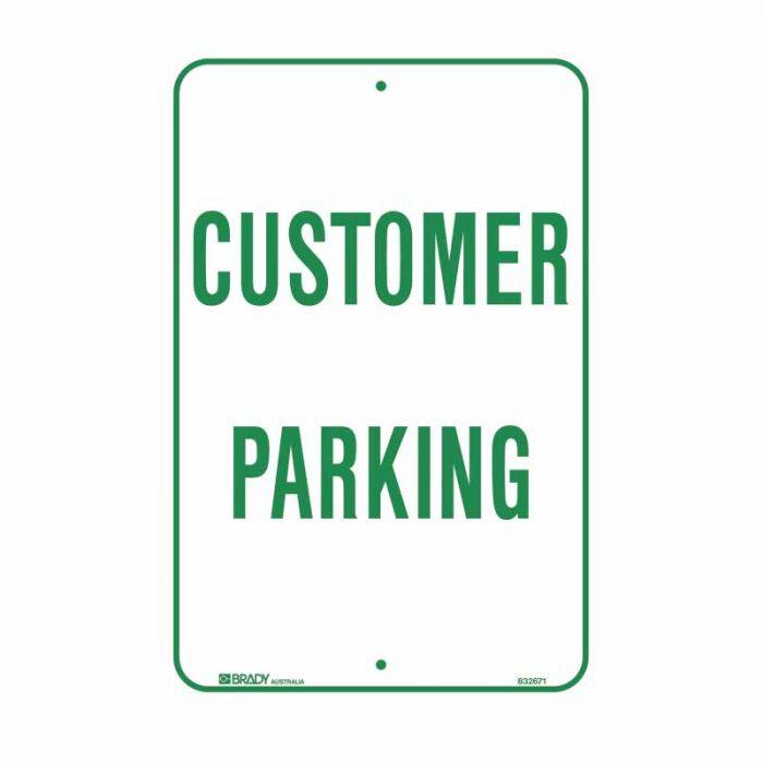 832671 Parking & No Parking Sign - Customer Parking