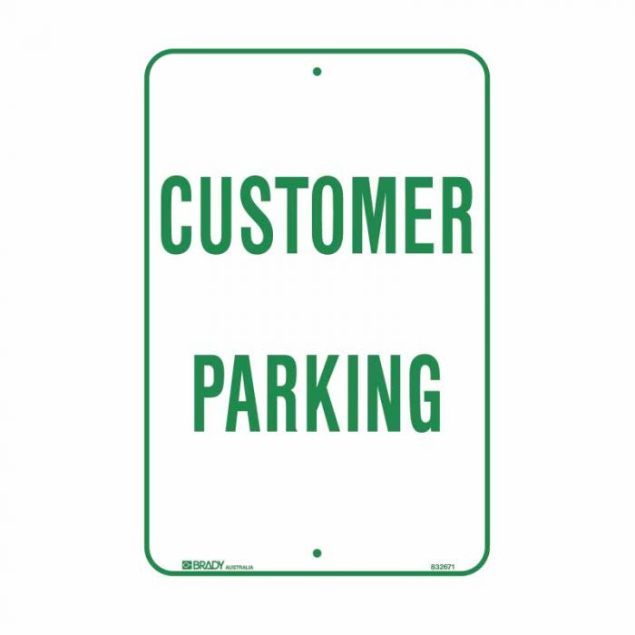 832672 Parking & No Parking Sign - Customer Parking