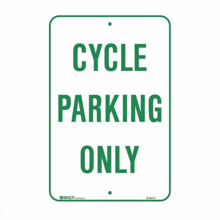 832673 Parking & No Parking Sign - Cycle Parking Only