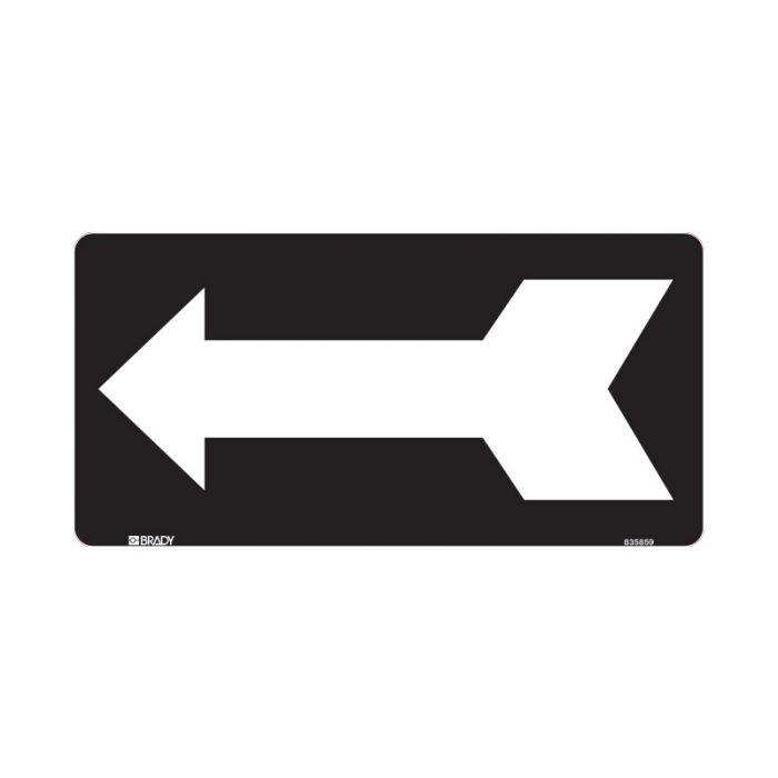 832755 Directional Sign - Arrow Left Black