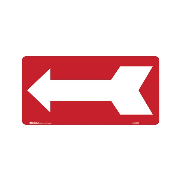 832756 Directional Sign - Arrow Left Red