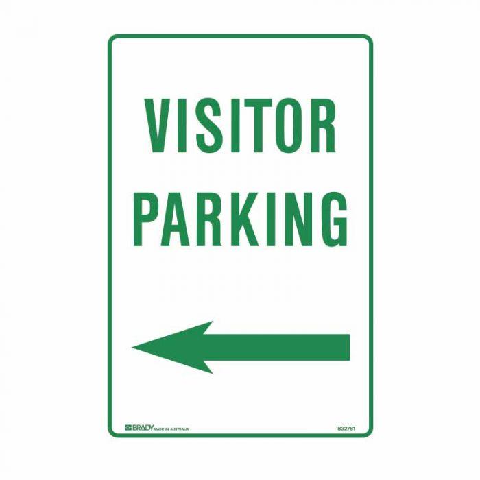 832760 Parking & No Parking Sign - Visitor Parking Arrow left