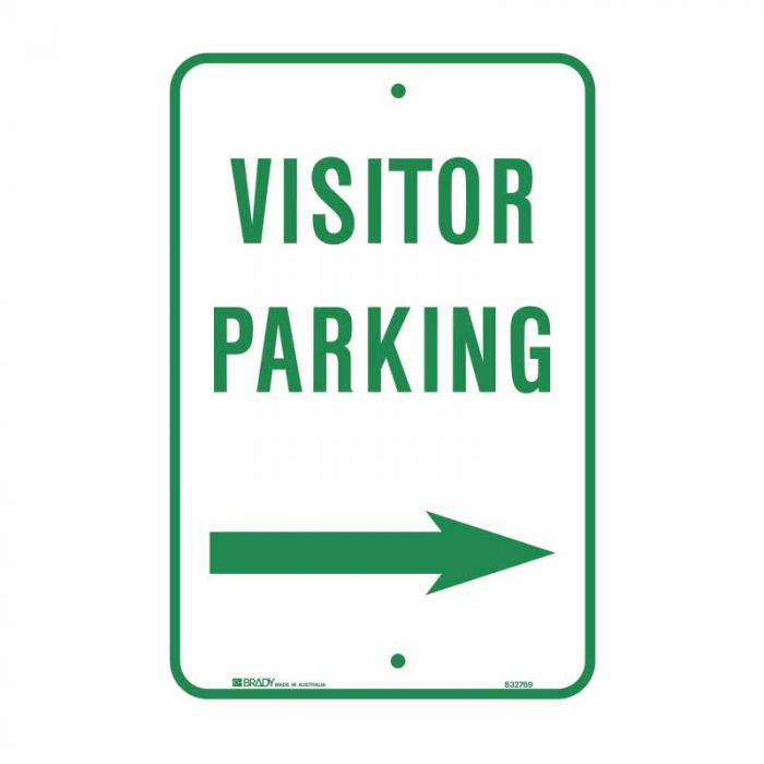832770 Parking & No Parking Sign - Visitor Parking Arrow Right