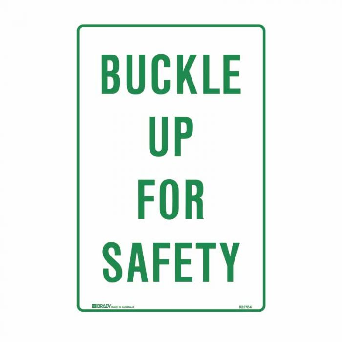 832784 Parking & No Parking Sign - Buckle Up For Safety