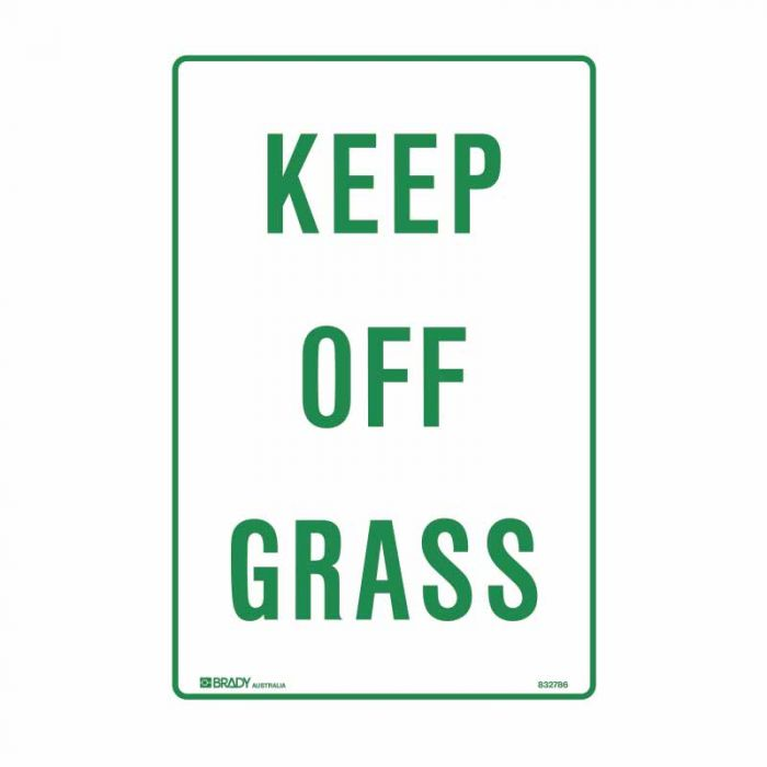832786 Parking & No Parking Sign - Keep Off Grass