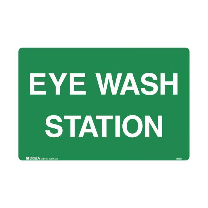 833025 Emergency Information Sign - Eye Wash Station