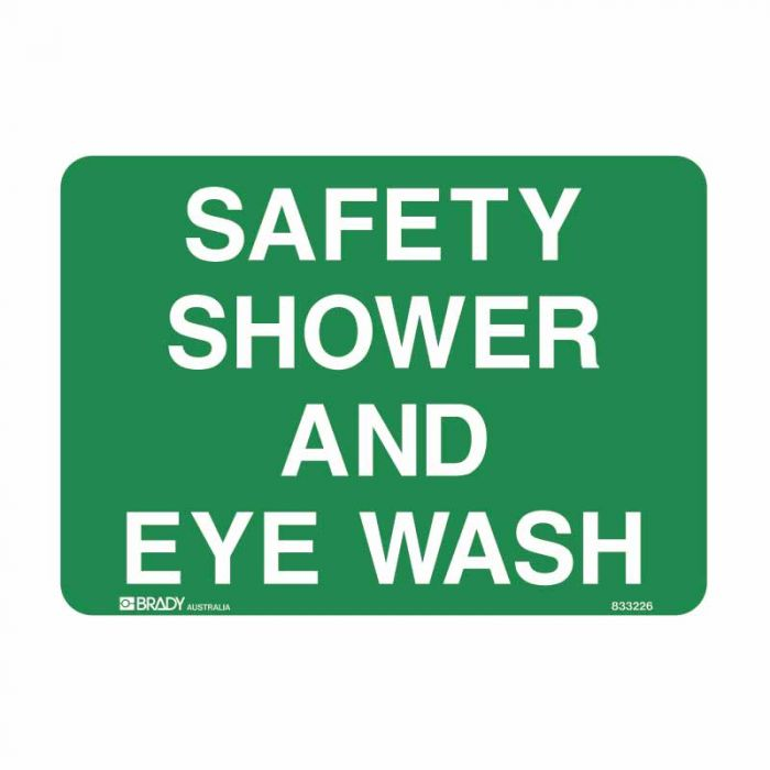 833226 Emergency Information Sign - Safety Shower And Eye Wash