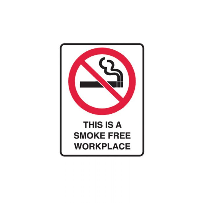 833328 Small Stick On Labels - This Is A Smoke Free Workplace