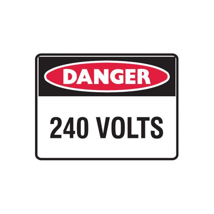 833343 Small Stick On Labels - Danger 240 Volts