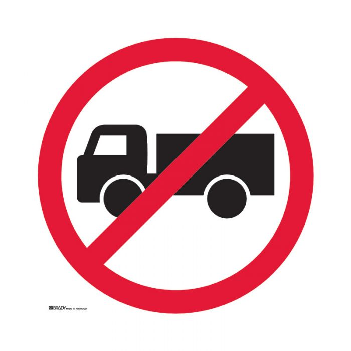 833978 Directional Traffic Sign - No Trucks