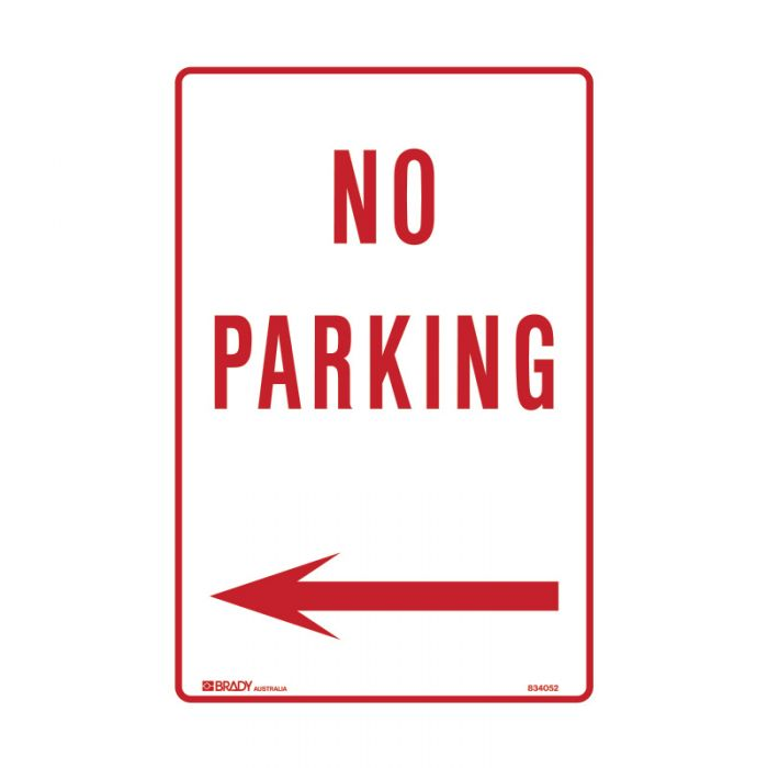 834052 Parking & No Parking Sign - No Parking Arrow Left