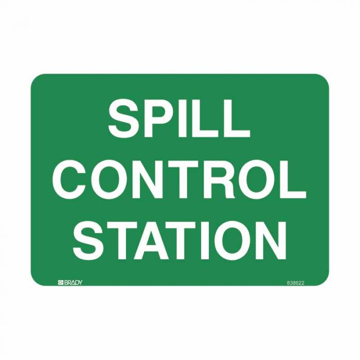 835180 Emergency Information Sign - Spill Control Station