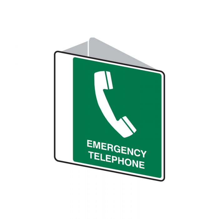 Emergency Information Sign - Emergency Telephone (Polypropylene) H225mm x W225mm