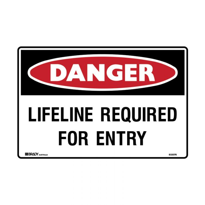 835302 Electrical Hazard Sign - Lifeline Required For Entry