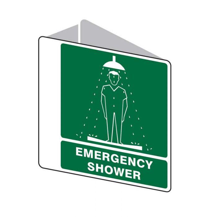 Emergency Information Sign - Emergency Shower (Polypropylene) H225mm x W225mm