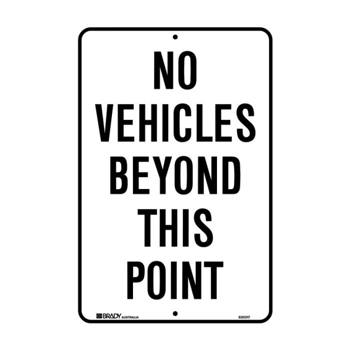 835317 Parking & No Parking Sign - No Vehicles Beyond This Point