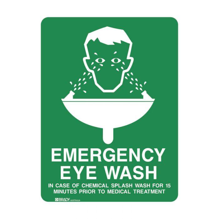 835322 Emergency Information Sign - Emergency Eye Wash..