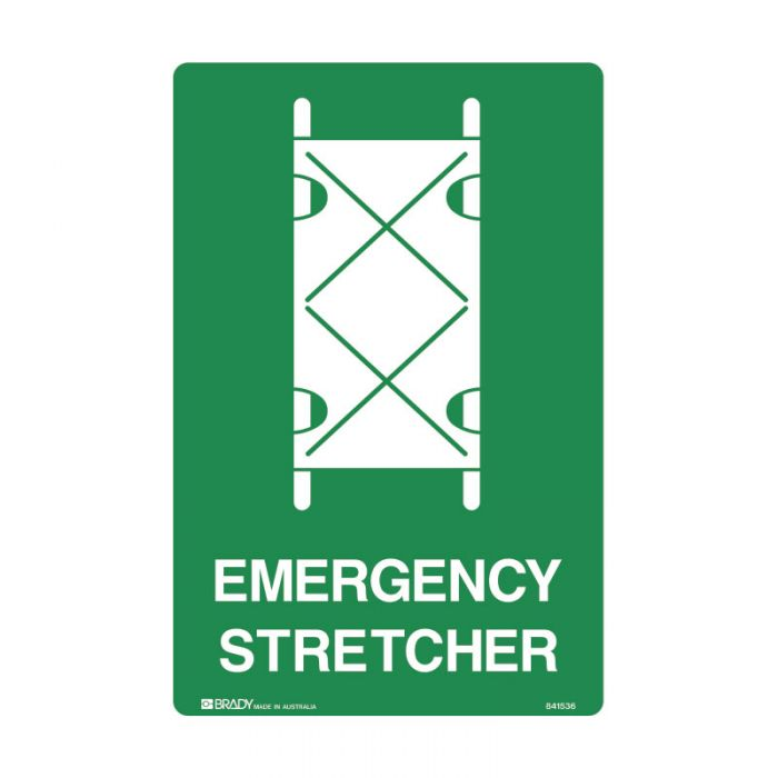 835328 Emergency Information Sign - Emergency Stretcher