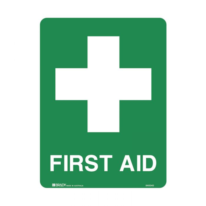 835330 Emergency Information Sign - First Aid