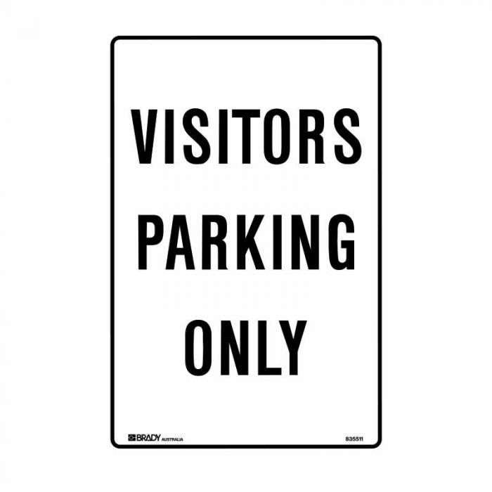 835511 Parking & No Parking Sign - Visitors Parking Only
