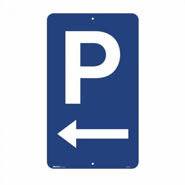 835512 Parking & No Parking Sign - Parking Picto Left