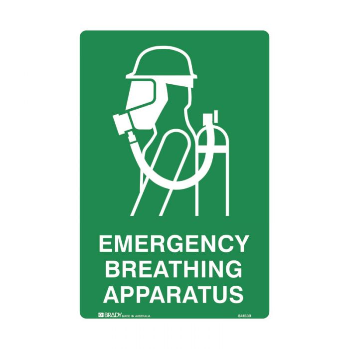 835697 Emergency Information Sign - Emergency Breathing Apparatus