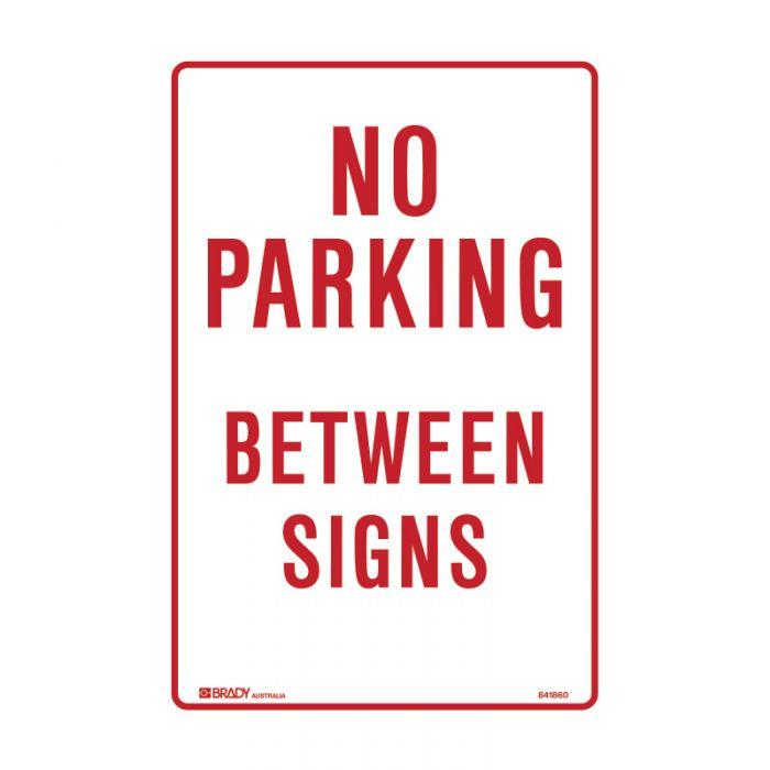 835702 Parking & No Parking Sign - No Parking Between Signs