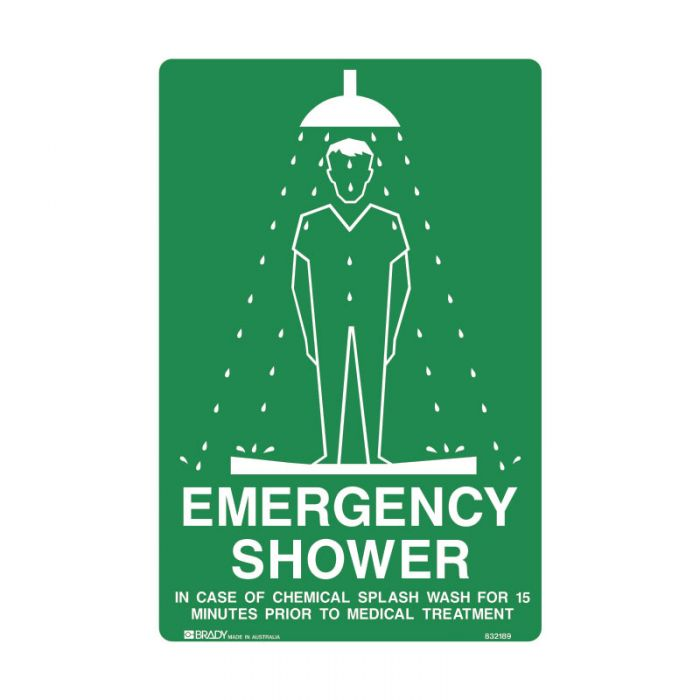 836780 Emergency Information Sign - Emergency Shower..