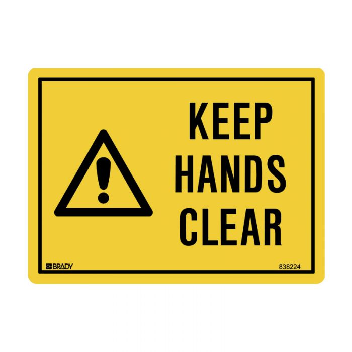 838224 Small Stick On Labels - Keep Hands Clear