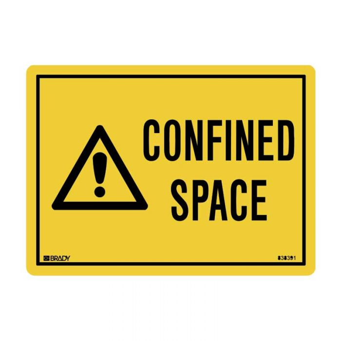838391 Small Stick On Labels - Confined Space