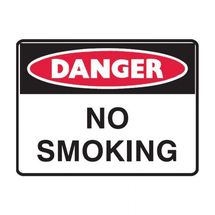 838820 Small Stick On Labels - Danger No Smoking