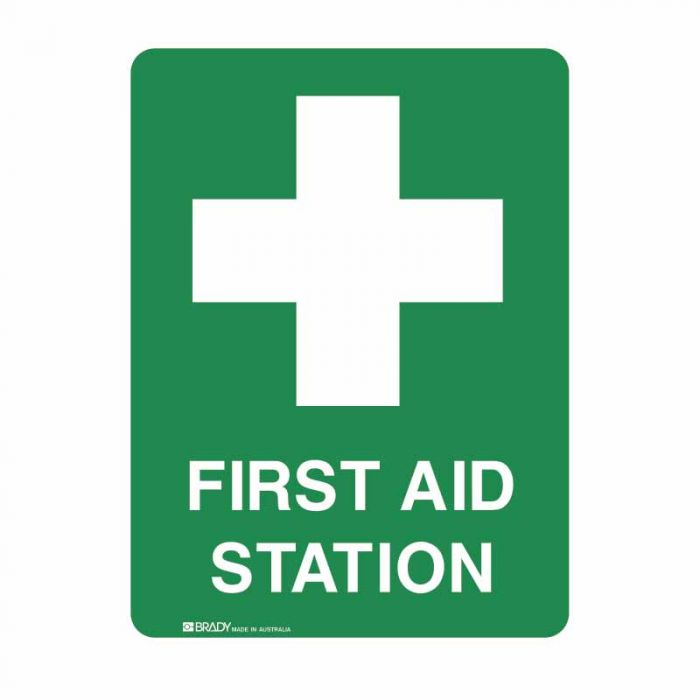 840002 Emergency Information Sign - First Aid Station