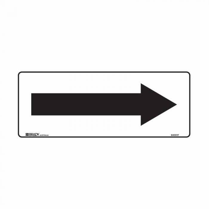 840017 Building & Construction Sign - Arrow Right