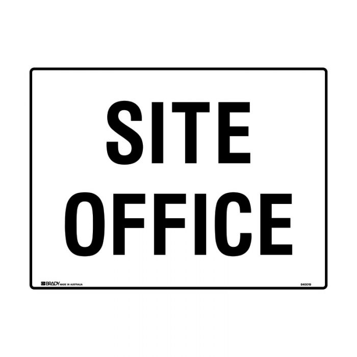 840020 Building & Construction Sign - Site Office